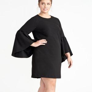 RACHEL Rachel Roy Bell-Sleeve Shift Dress Black